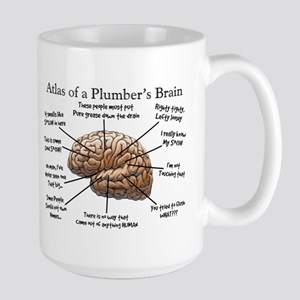 Atlas of a Plumbers Brain Large Mug